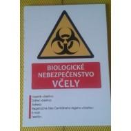 Tabuľa biologické nebezpečenstvo včely