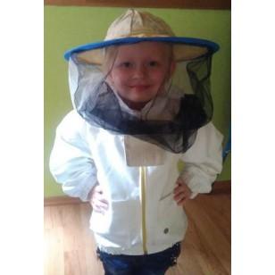 Blúza včelárska na zips s klobúkom detská veľkosť XS
