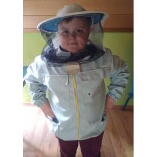 Blúza včelárska na zips s klobúkom detská veľkosť S