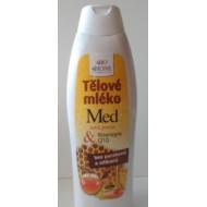 Telové mlieko regeneračné MED + Q10 s vitamínom E 500 ml